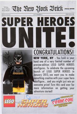 Comic-Con Exclusive Batman Giveaway