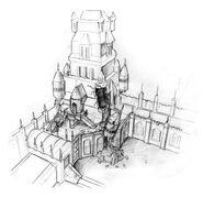 Castle tower overhead