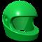 Green racing helmet