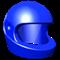 Blue racing helmet