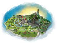 LEGO Universe Rayhawk Kingdoms Map