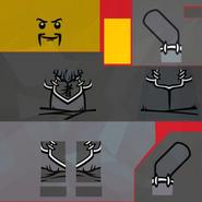 Torsos Ninjago Guard Grey I5