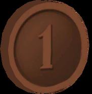 Pre-Alpha Bronze Coin ''1''