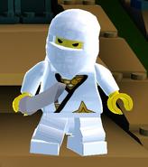 Ninja Messenger with katana
