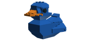 Act won gnar shooting gallery target-3Dduck-blue