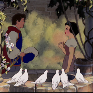 Le Prince rencontrant Blanche-Neige.