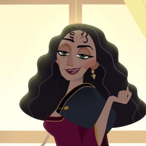 La Mère Gothel dans la série <i>Raiponce</i>.