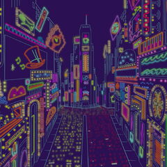 New York en Couleur (<small>Rhaposdy in Blue, Fantasia 2000</small>)
