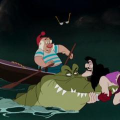 Monsieur Mouche, le Capitaine Crochet et le Crocodile tic-tac