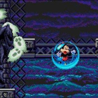 Mickey affrontant Mizrabel.