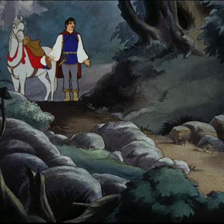 Le Prince en haut du sentier.