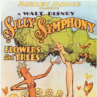 Affiche <i>Des Arbres et des Fleurs</i>, la première <i>Silly Simphony</i> en couleur.