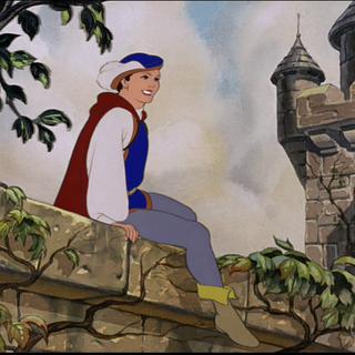 Le Prince assis sur la muraille du château.