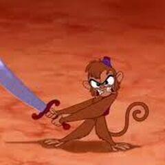 Abu avec un sabre