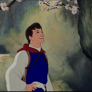 Le Prince observant la colombe s'envoler.