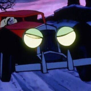 La voiture de Cruella dans <i>Les 101 Dalmatiens</i> (1961).