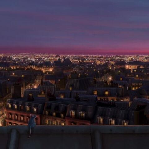 Vue sur Paris le soir (<small>Ratatouille</small>)