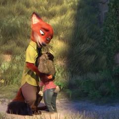 Nick réconforte Judy.