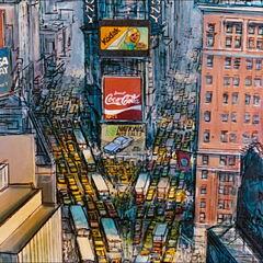 Time Square vu de haut
