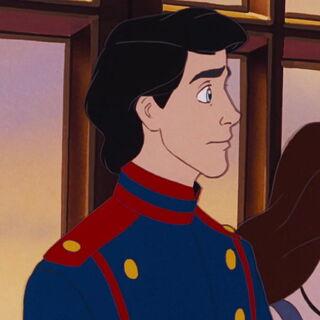 Éric dans sa première tenue royale