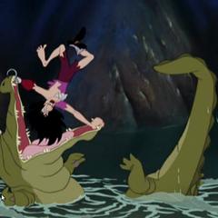 Le Crocodile, a deux doigts de manger Crochet