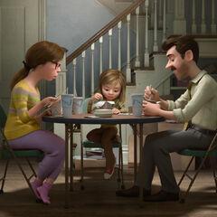 Riley et ses parents