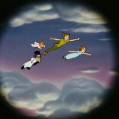 Peter et les Darling, depuis la longue-vue de Crochet