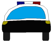 POLICE CAR FRONT SPRITE TRANS