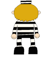 LEON SMALLWOOD PRISON OUTFIT NEW BACK SPRITE TRANS