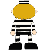 LEON SMALLWOOD PRISON OUTFIT BACK SPRITE TRANS