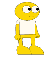 GOLD YELLOW GUY WITH WHITE SHIRT SPRITE TRANS