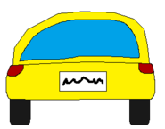 YELLOW CAR BACK SPRITE TRANS