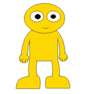 GOLD YELLOW GUY FRONT SPRITE TRANS