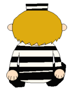 LEON SMALLWOOD PRISON OUTFIT SITTING BACK SPRITE 1-1 TRANS