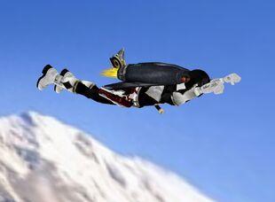 Jet pack flying