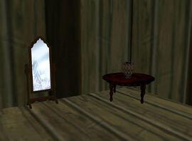 Bedroom Mirror & Table