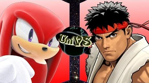 UniVS - Knuckles VS Ryu-0