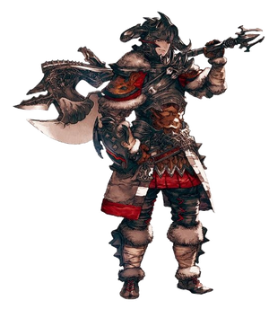 Warrior Hyur Artwork XIV