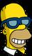Homer Lunettes Poochie