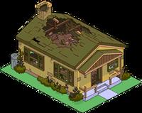 Maison marron détruite