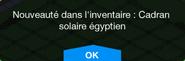Cadran solaire égyptien Inv