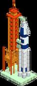 Rampe de lancement spatial'