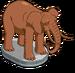 Statue d'éléphant du zoo