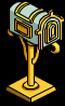 Boîte aux lettres en or