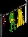 Corde à linge de héros