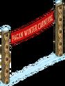 Panneau du festival païen d'hiver