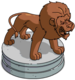 Statue de lion du zoo