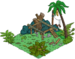 Aire de repos de la jungle