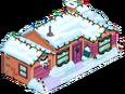 Maison orange de Noël