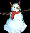 Bonhomme de neige diabolique